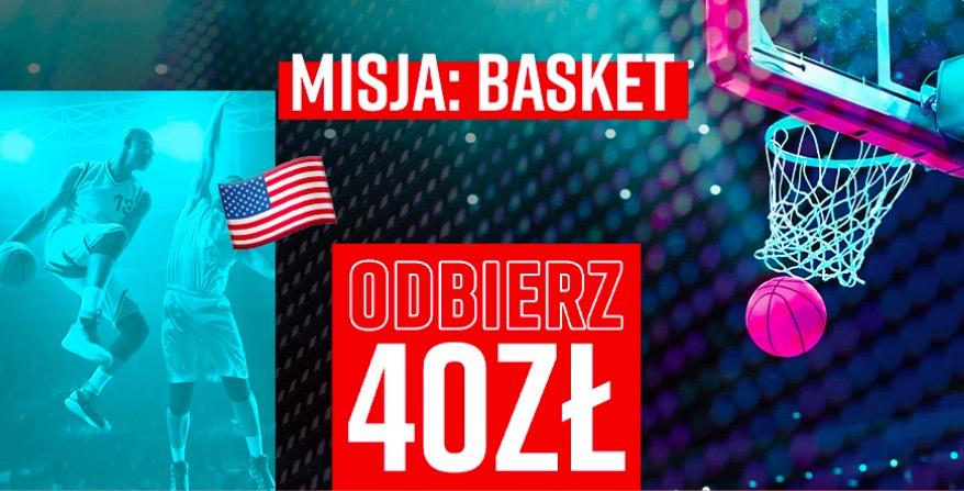 Premia na koszykówkę w Betclic - 40 PLN ekstra tylko do wtorku